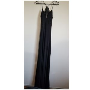 Windsor sleeveless high slit open back maxi dress